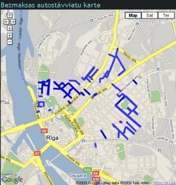 20090825 bezmaksas autostavvietu karte