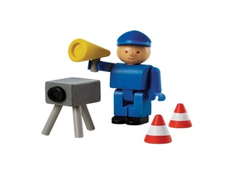 wooden toy police office speed camera14