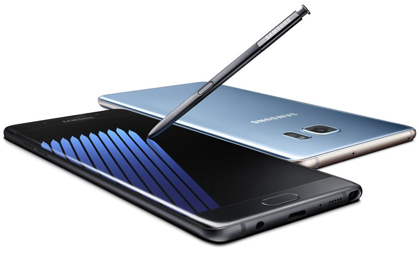 Samsung Galaxy Note7 black blue