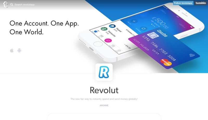 Revolut homepage January2017