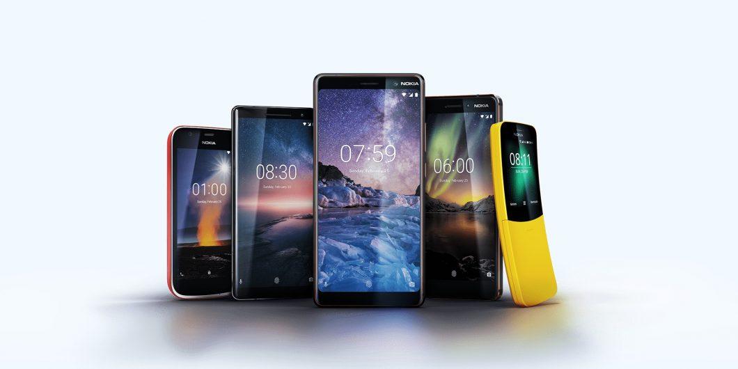 Nokia phones family 2018
