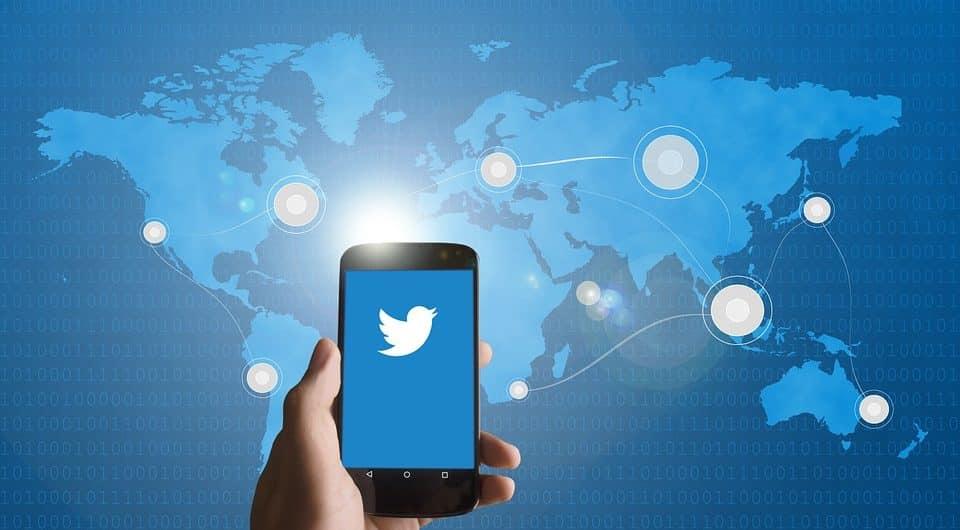 Twitter map.