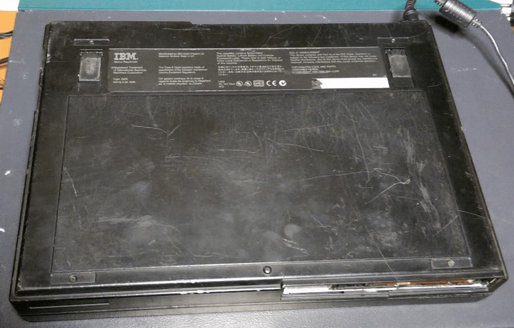 IBM Thinkpad 365XD bottom