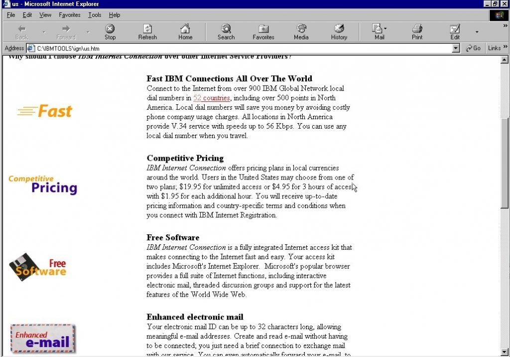 IBM Internet Connection page 2