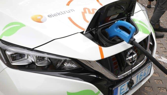 latvenergo elektroauto uzlades stacijas nissan leaf elektrum