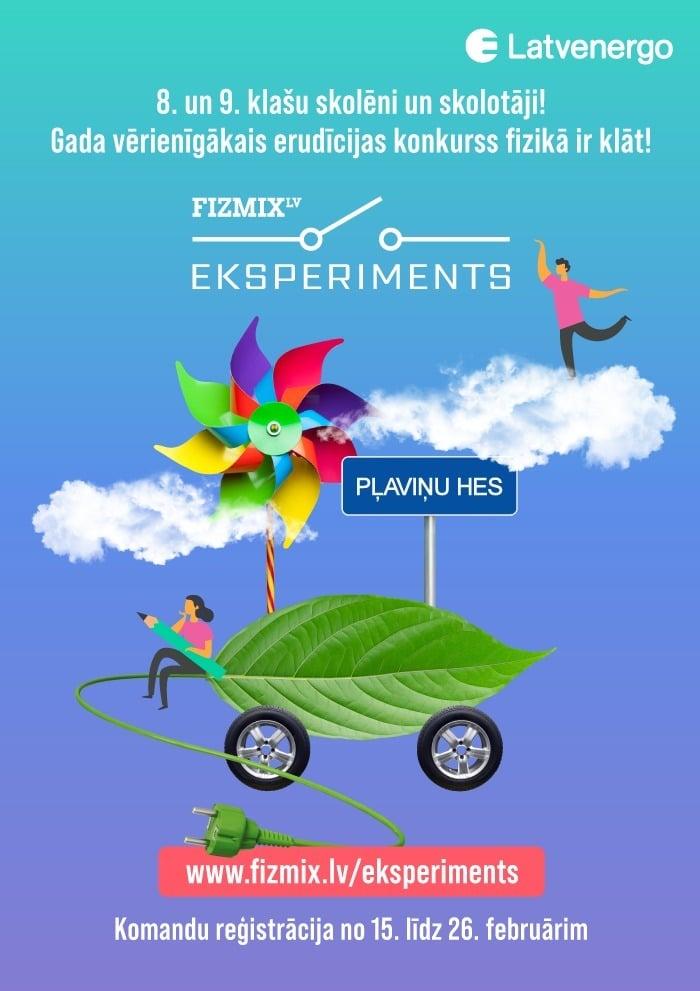 FIZMIX Ekperiments plakats