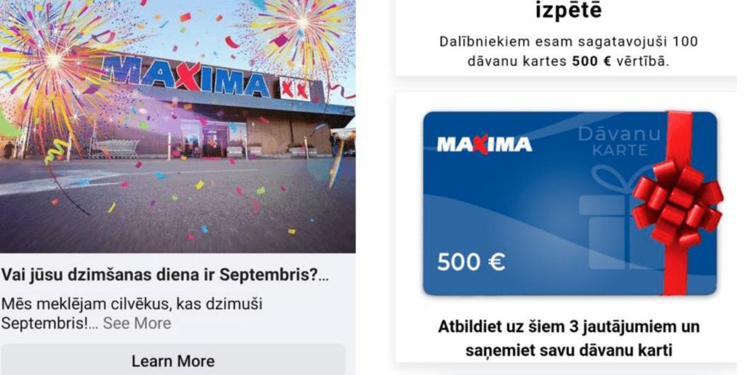 Maxima bridina par viltus loteriju uznemuma gadu jubilejas varda