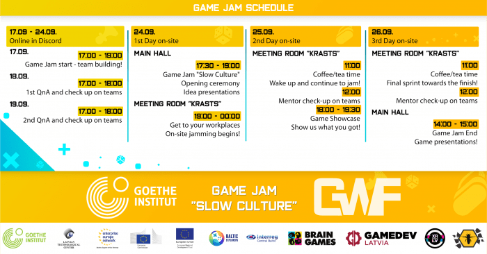 Game Wave Festival schedule